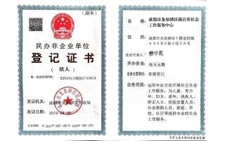 民办非企业登记证书